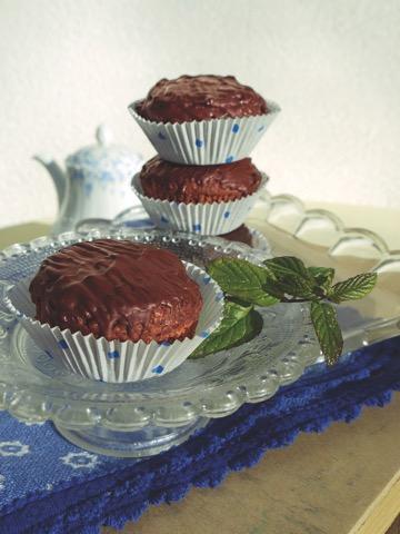 Schoko-Muffins ohne Mehl und Zucker